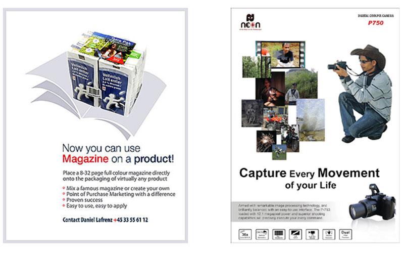 Attractive magazine designing services